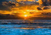 wolken met zee