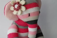 Bichinhos de tecido e meia