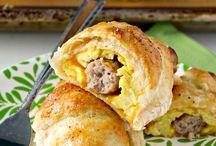 Sausage and egg roll