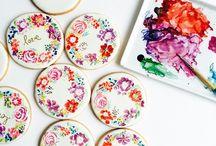 sugar cookies/ watercolor