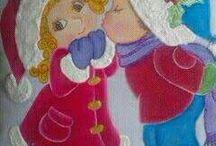 pintura infantil navidad