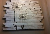 wall decor from wood