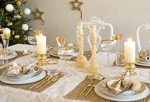 christmas table decor / by Georgia Beaver