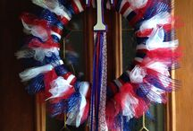 Door Wreath Ideas / Sports Teams & Other Ideas