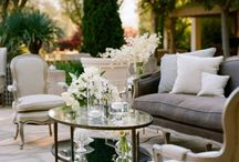 Outdoor living rooms! / by LeAnn Fleck