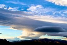 Clouds / Lenticular clouds viewed from my home in Alexandra, Central Otago, New Zealand.