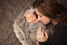 Newborn with mom and dad