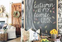 chalkboard autumn