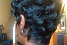 Short n pin curled