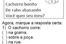 atividades lingua portuguesa