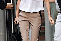 Stripe side pants