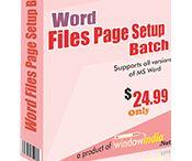 Word Files Page Setup
