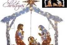 Christmas Outdoor Nativity Scene