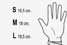 tallas de la mano