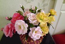 мои работы из самоварного холодного фарфора / Цветы, которые я леплю  из самоварного холодного фарфора.