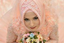 Hijab pesta brokat