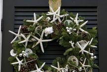 Nature/Beach Xmas Wreaths & Decos