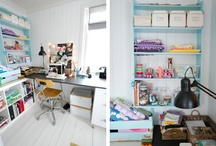 Craft Rooms I Love! / Big or small, all these rooms have awesome ideas for your craft and office space!