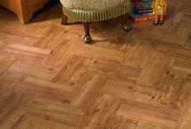 Herringbone design floors / We love the classic herringbone design of parquet floors. Recreate the same look using luxury vinyl tiles and sheet vinyl flooring from Polyflor at Home.