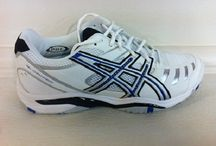 TENNIS, SQUASH AND NETBALL SHOES / Sport shoes for the  novice player to the demanding pro who needs to know his/her feet and ankles are being supported with the best that technology and modern material can provide.
