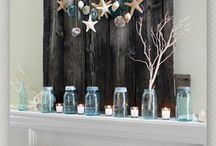 Summer Mantel Top Displays