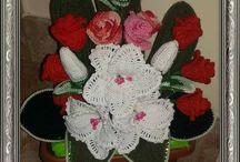i miei fiori all'uncinetto