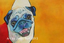 Rainbowdog Art / Samples of my dog portraits and animal art. Contact me if you'd like me to paint one of your pooch!