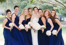 Ann and Ed's wedding style / Dark blue and blush pink, high elegance