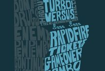 Videogame Characters Typography by Josh Mirman