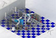 Damacana Viyol Paletleme ve Depaletleme Sistemi 3000 ŞİŞE SAAT DAMACANA / Tara Robotik Otomasyon tarafından tasarlanan hatta 3000 adet damacana saatte robot tarafından Paletlenip Depaletleme işlemi yapılmaktadır.