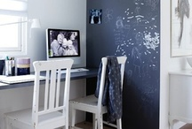Chalkboards for kid's rooms / Create a reusable canvas to inspire your kid's artistic abilities with these ideas...