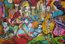 Gombor József artist / oil-canvas 100x150 cm