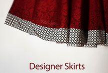Designer Skirts / A hand made women's wear store - Handlooms, Handwoven, Hand painted garments.  #PurelyHandmade