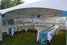 A Wedding in the backyard!