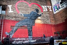 Colossal for Nick Walker (street artist) in NYC / Colossal has a variety of impressive wallscapes zoned specifically for art only images. Art walls inspire creativity within a local community as well as act as a must-see destination for art enthusiasts. / by Colossal Media