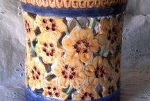 Portamestoli / Portagrissini in ceramica