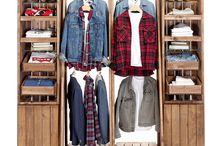 Rustic Clothing Displays