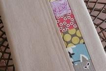 šití - obaly na knihy, sešity
