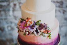 Maľovaná svadobná torta
