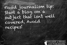 Food journalism tips / Handy food journalism tips from distance learning course provider, the College of Media and Publishing.