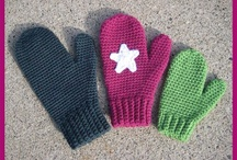 Crochet gloves, hats and headbands for kids