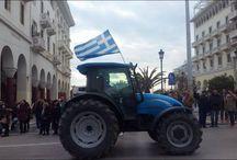 Θεσσαλονίκη - Τα τρακτέρ στην Τσιμισκή - ΒΙΝΤΕΟ