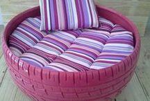 cat tyre bed