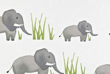 Jumbo Elephant | Kindergordijnen | Prestigious Textiles PT | Kunst van Wonen