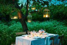 dinner set garden