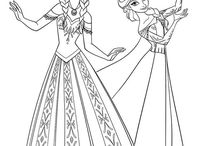 Frozen Coloring Pages / Come visit Elsa, Anna and Olaf and download our free Disney Frozen coloring pages http://coloringbookfun.com/Frozen