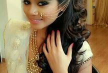 Reception Hairstyle  for Indian Wedding