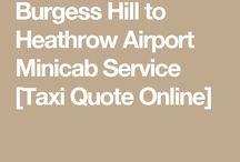 Burgess Hill to Heathrow Taxi
