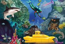 под водой