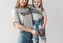 Mom and daughter style